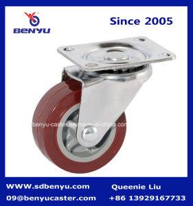 Rodízio de PU giratório para carros pequenos