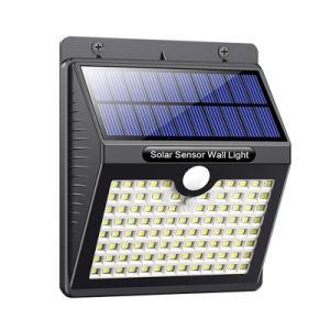 Hotsale fábrica 97 LEDs Solar impermeable Sensor de movimiento PIR de pared de luz solar de la luz de la pared de luz LED Sensor de movimiento de las luces de Jardín de Luz solar al aire libre