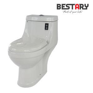 La porcelaine sanitaire musulmane encastré double avec salle de bains de siège de toilette en céramique des Indiens de montage de la mode Un morceau Wc cuvette des toilettes