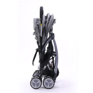 Elegante Cor Cinza Portable Carro de bebé