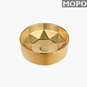 Bom Sanitária de Banho Art Lavatório com cor de ouro
