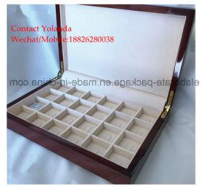 ハンドメイドの習慣によってラッカーを塗られる光沢のある絵画木製のJewerlleryのリングまたはイヤリングのコレクションボックス