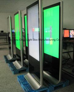 LCD 위원회 Kisok를 서 있는 65 인치 게시판 지면