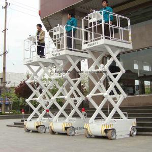 lift van het Platform van de Macht van de Batterij van 10m de Gemotoriseerde met Goedgekeurd Ce