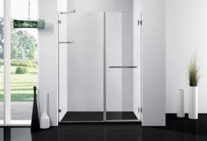 Dobradiça do vidro temperado 8 mm chuveiro porta simples conjunto de banho de chuveiro Cabine de Duche da dobradiça para casa de banho