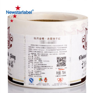 Botella de vino de la etiqueta de papel adhesivo impermeable adhesivo