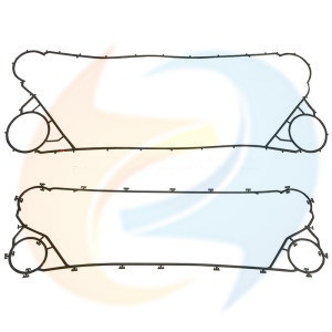 La empaquetadura de caucho EPDM para la placa del intercambiador de calor