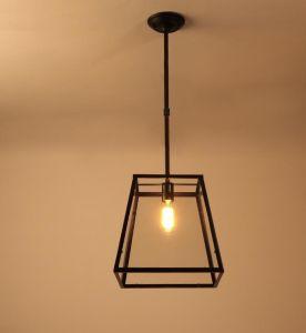 Lâmpada Pendente de metal clássico com sombra de vidro (WHG-004)