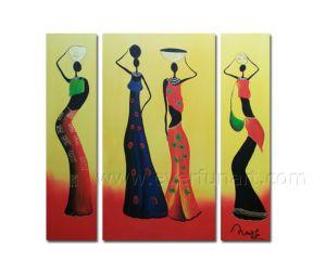 Het moderne Abstracte Menselijke Olieverfschilderij van het Cijfer