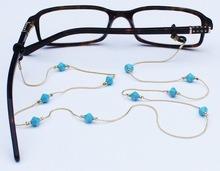 De mooie Turkooise Vrouwen van het Glas van Eyewear van de Keten van de Kleur Gouden Met de hand gemaakte
