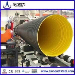 200mm ~ 800mm PEAD tubos de cartón ondulado de doble pared para drenaje