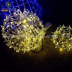 LED Branco Quente impermeável ao ar livre de bola de Natal decorativas luz para o Natal