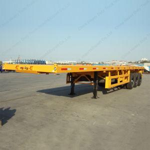 Tri-Welle 60ton 40FT Flachbett-halb Schlussteil für Verkauf