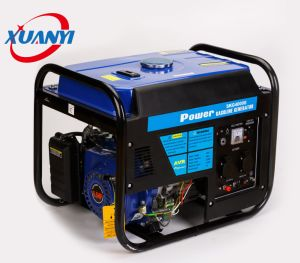 Refrigerado por aire de un cilindro de 4 tiempos de reacción de arranque eléctrico/generador de gasolina de 3 kw