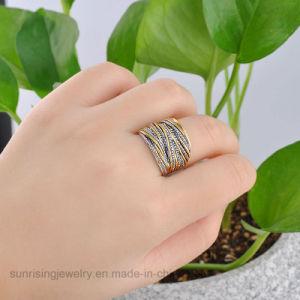 シンプルな設計の安い価格の宝石類の石のない白い金の指輪