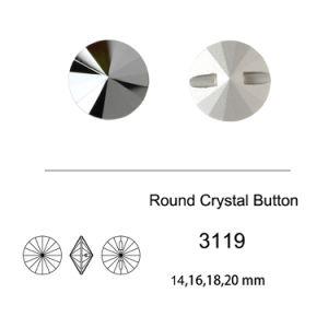 Neuer Entwurfs-fantastischer Tasten-Kristallstein für Kleid