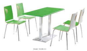 Zapatos de color verde brillante de color de alta silla de mesa para el Patio de Comidas