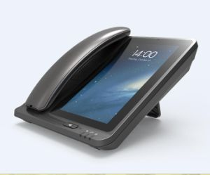 7 teléfono sin hilos fijo del teléfono de la pulgada 4G Lte de la mesa androide de escritorio de Fwp