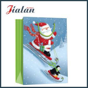 서류상 인쇄한 작동 아버지 크리스마스 패킹 선물 종이 봉지를 주문을 받아서 만드십시오