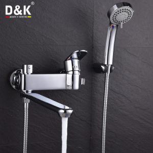 Acquazzone del becco di alta qualità di disegno moderno/rubinetto lunghi d'ottone del bagno con il kit dell'acquazzone