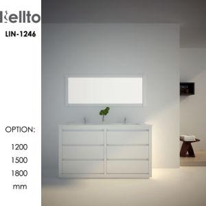 上の洗面器(LIN-1246)とのハイエンドカスタム浴室の虚栄心