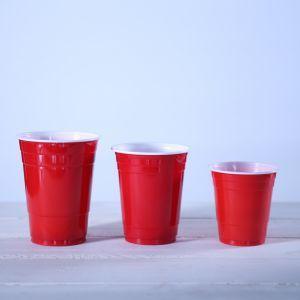 Одноразовые 16oz PS пластиковый красный соло-участник наружные кольца подшипников