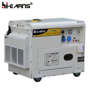 Weißes Farben-Kabinendach-Dieselgenerator-Set (DG6500SE)