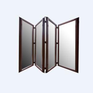En aluminium poudré Extrusion porte pliante