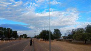 60W tout-en-un Rue lumière solaire lumière extérieure de la lampe d'alimentation