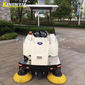 Kw-1400c fonctionne sur batterie de la route de l'entrepôt Sweeper