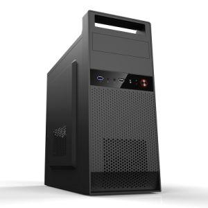 Caixa de Computador Matx preta com alça de elevação