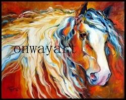 Het Olieverfschilderij van het paard (dw-052)