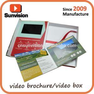 7개의  LCD 광고 선수 화장품 선물 상자를 주문 설계하십시오