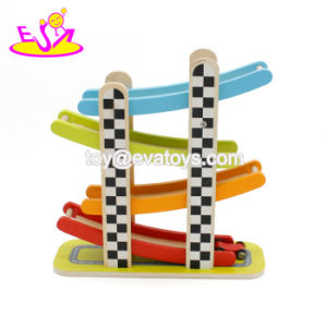 Novo slot escaldantes Racing Miniatura de madeira acelerando carro para as crianças W04e059