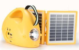 1.7W portátil en casa de 9V con el sistema de iluminación LED del panel solar
