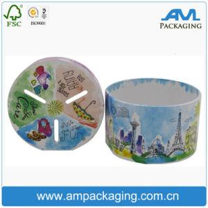 Круглые трубы ламинированной бумаги пользовательских цилиндрических медали коробка для хранения