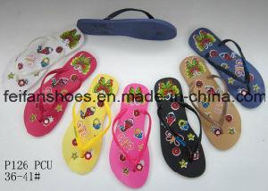 Дешевые женщин ПВХ Шлепанцы тапочки хорошие цены сандалии (FFLT112202)