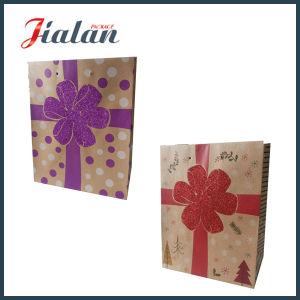 선물 승진 싼 로고에 의하여 인쇄된 Kraft 종이 봉지를 주문을 받아서 만드십시오