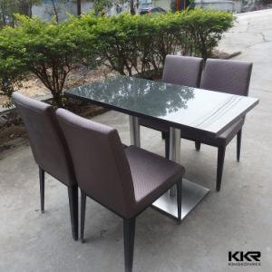 水晶上が付いている長方形の4 Seaterの食堂テーブル