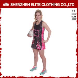 専門の適性の昇華は印刷した女性ネットボールのユニフォームの服(ELTNBJ-69)を