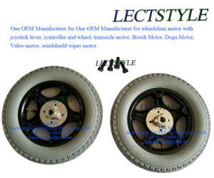 7 10 12 14 16 en silla de ruedas neumáticas de la rueda trasera en el motor de la silla de ruedas de pulido