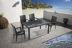 Jardín/Mimbre al aire libre juego de comedor para la silla y mesa ...