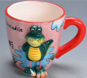 3D動物の漫画の形の陶磁器210-300mlコーヒー・マグ