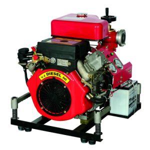 O combate ao incêndio a diesel da bomba de água