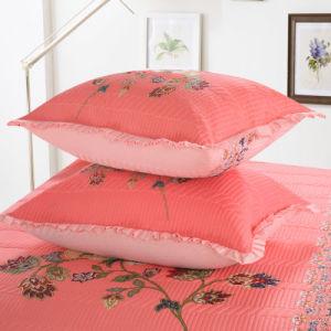 3PC Printed贅沢な女王および王はベッドカバーのCoverletセットをキルトにした