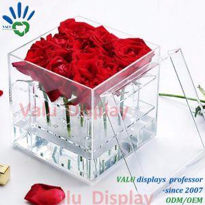 Contenitore acrilico libero impermeabile di fiore delle caselle con il cassetto