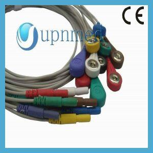Holter 10 кабель ЭКГ с Leadwires, с защелкой