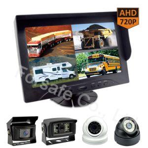 9-duim de Bus van de Monitor van de Vierling van Ahd/Rearview Camera van de Auto van de Vrachtwagen de Op zwaar werk berekende