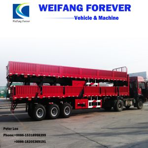 永久にWeifang商品の輸送のための2/3台の車軸側面または半バルク貨物トレーラー