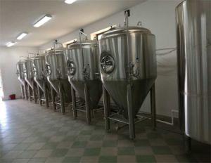 fermentatore conico della birra 1000L (spazio capo di +25%) con il raffreddamento sollevato